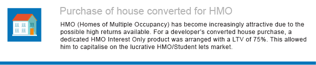 Purchase of house converted for HMO