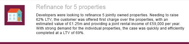 Refinance for 5 properties