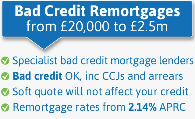 Bad credit remortgage